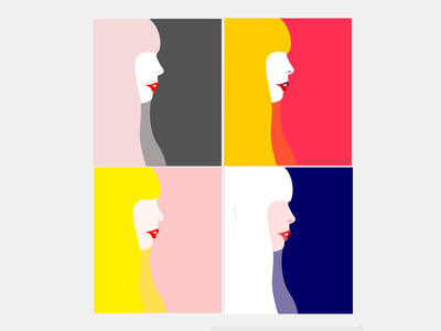 Joni Mitchell - vector study 100 day project graphic  design mighty woman bold minimal illustration vector popart pop retro joni mitchell joni
