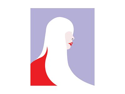 Joni (Red) design artmemos portrait bold 100 day project mighty woman 70s retro minimal illustration illustration minimal design minimal pop pop art joni mitchell joni
