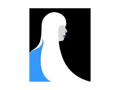 Joni (Blue) mighty woman 100 day project folk retro 70s pop art pop vector illustration minimal illustration illustration minimal design vector art vector study joni mithcell blue joni