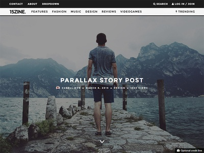 15zine Wordpress Magazine for 2015 - Parallax Post wordpress magazine 2015 magazine theme parallax magazine typography