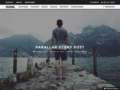 15zine Wordpress Magazine for 2015 - Parallax Post wordpress magazine 2015 magazine theme parallax magazine typography