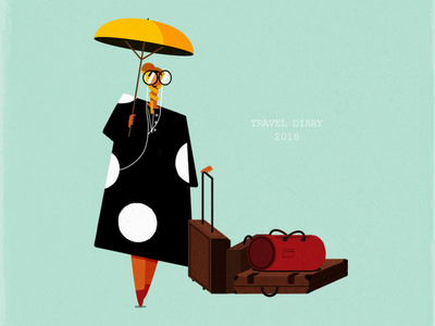 Polka dress fashion design shapes coverphoto photoshop character design minimalism illustration