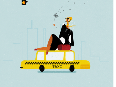 TAXIS everywhere visualstyle diary traveling nyc design illustration character design