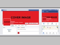 Mobile and Web Facebook Template