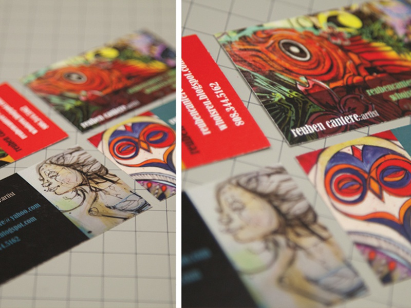 Artist Business Cards by Jenna Curammeng - Dribbble