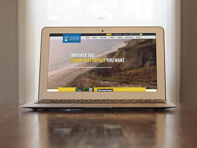 The San Diego Foundation web website video community charity san diego web design