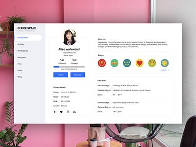 Profile page profile page profile branding brand app abhishek akss29 dashboard design abheist design dashboard app dashboad