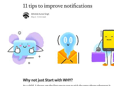 11 Tips To Improve Notifications web app icon lucky design akss29 abhi logo vector blog ui illustration abhishek symbol notification center space simple sketch notifications notification