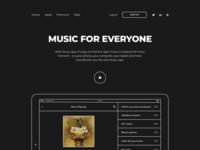 Minimal Music app