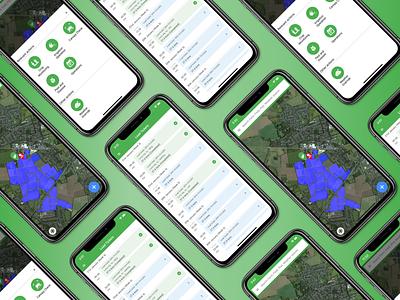Map app art animation mapbox ui app mapping maps motion mark mobile minimal map
