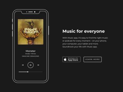 Minimal Music app - iOS