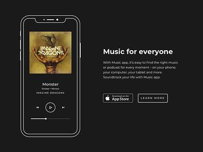 Minimal Music app - iOS simple clean interface simple invitation simplistic simplicity simple design minimalistic minimalism simple logo simple app music player music art musician music app minimalist minimal life music apple music apple