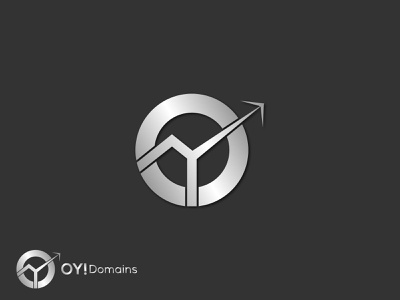 OY! Domains | Flat Minimalist Logo Design By Peramita Puja mark icon brand brand identity holographic o letter logo typography