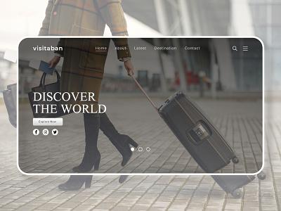 Travel Web UI | Landing Page landingpage uxdesign uidesign uiux ux ui