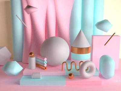 Geometric objects 02 for C4D