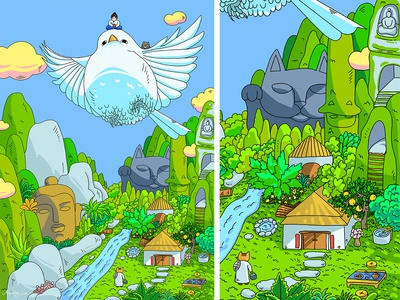 illustration 01-桃花源