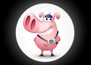 a cameraman pig oliang cameraman pig cute cartoon