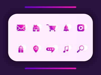 Web Icons-Icon Design for a Website. professional proffesional gradienticon design app design gradient illustration logo webdesign website branding branding design vector ui icon app