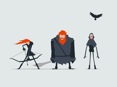 Wildlings character minimal angular shapes illustration design wildlings ygritte tormund orell game of thrones