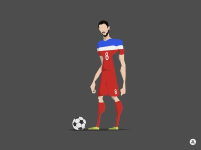 Clint Dempsey character design illustration usa futebol world cup 2014 brazil 2014
