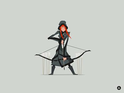 Ygritte character design illustration ygritte wildling game of thrones