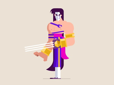 Vega vector character design illustration capcom vega street fighter video game
