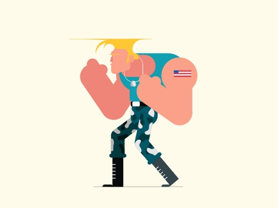 'Merica vector character design illustration capcom guile street fighter video game