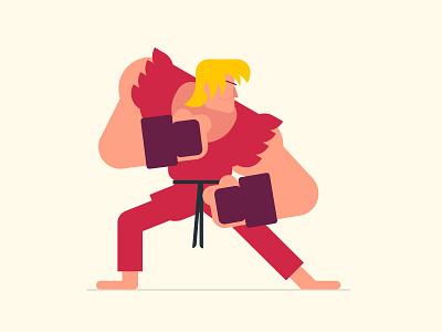 Ken video game street fighter ken capcom illustration design character vector