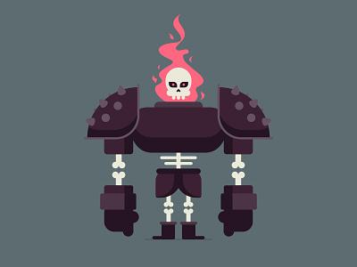 Bone Thug video game fire flame thug bone skull design character illustration vector
