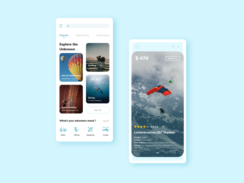Discover - Travel App interaction design uiinspiration ux minimal style typography concept design clean branding modern travel app globe app ui flat travel