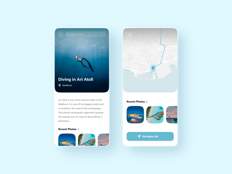 Discover - Travel Activities travel app ux minimal style typography concept design clean branding modern maldives travelapp globe app ui flat travel