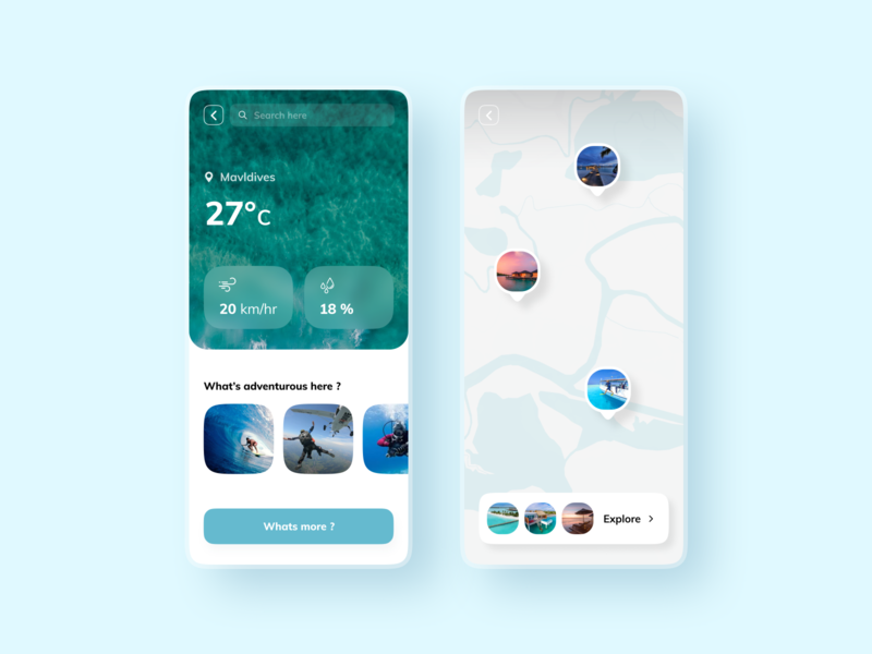 Discover - Travel Details travelapp maldives ux minimal style typography cocnept design clean branding modern travel app globe app ui flat travel