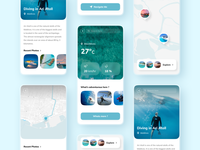 Discover - App collection design concept minimal globe 3d art 3d 2d typography style travel app travel modern vector illustration ui flat