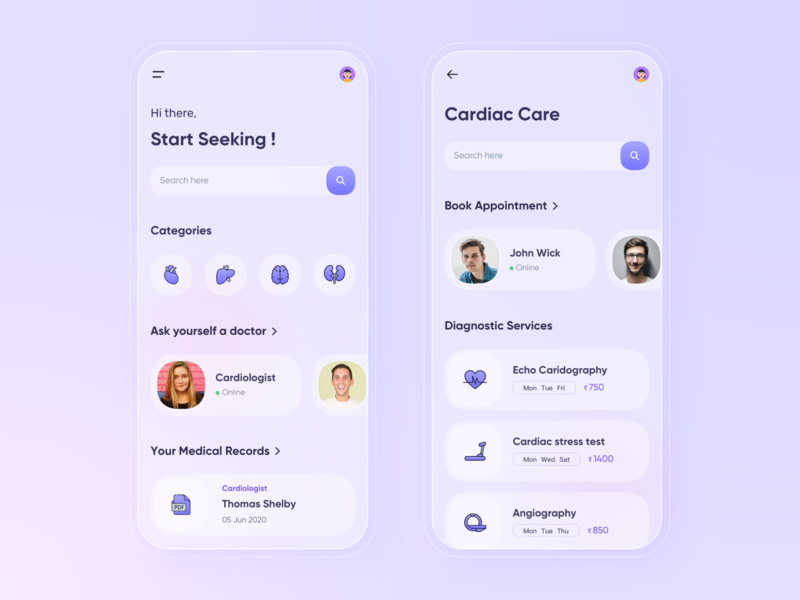 Care Plus - Health App concept minimal medical typography 3dicon design clean branding modern healthcare icon app ui 2d 3d flat health