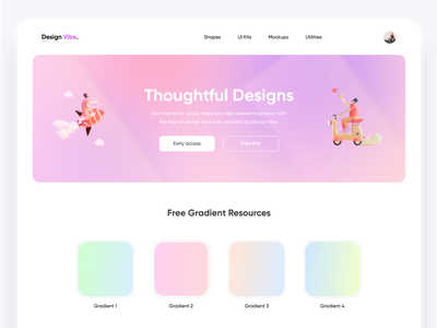 Design Vibe - Design resources website logo 2d 3d website concept crazydes2021 design materials desing inspirations colorinspirations inspiration gradient ui design resources resources design gradients icons website design webdesign website