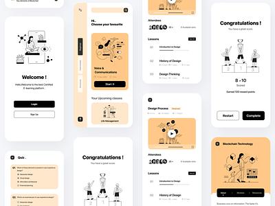 Tech Learn - Education App modern 2d 3d minimal crazydes2021 test graduate elearning courses elearning study learning platform blockchaintechnology technology blockchain learning app learning learn edutech