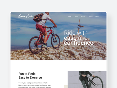 Oman Cycles - E-commerce Website modern minimal 2d 3d bicycle bicycle shop oman online store online shop ecommerce shop shop ecommerce design ecommerce cyclist cycles cycling cycle