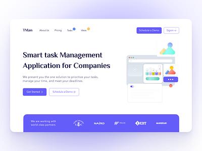 Tman  - Digital Product  Website modern clean 3d tasks task manager landing page new design website design webdesign product website digital products digital product product page project management project