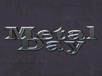 Metal font