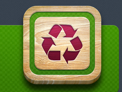 Iphone Icon icon illustration wood texture green