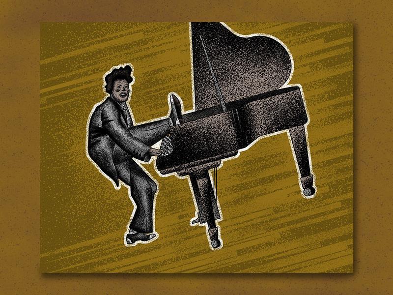 Little Richards music piano rock and roll little richard illustration art texture jutastudio illustration