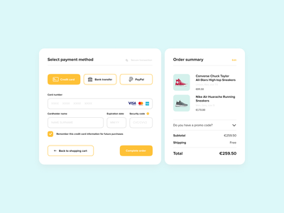 Credit Card Checkout 002 payment checkout dailyui dailyui002 design ui design ui minimal concept design