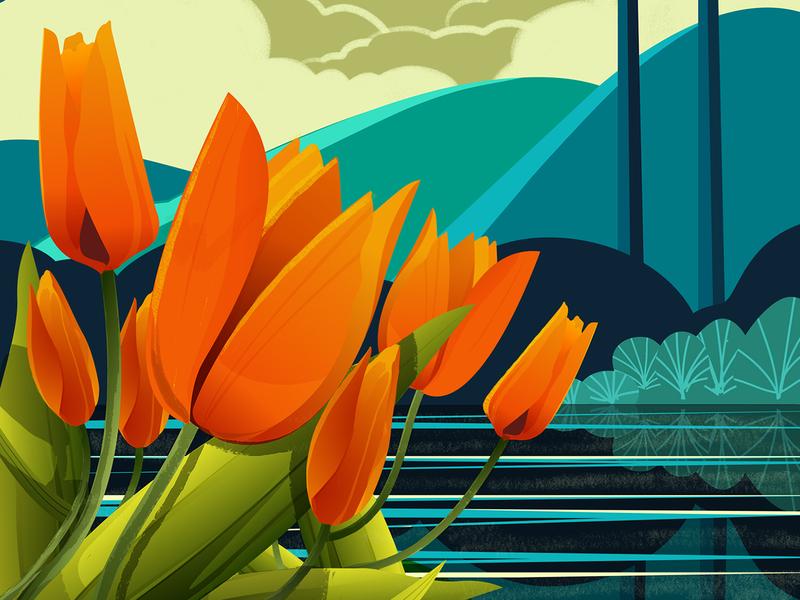 Flower series 2 series illustration