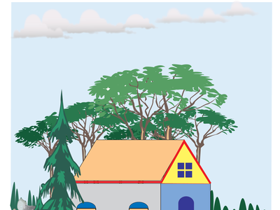Beautiful nature & home Illustration website art branding icon illustrator logo vector illustration design