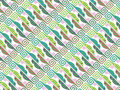 Chameleons vector cute pattern design pattern illustration adobe illustrator graphic design design