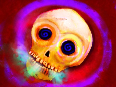Red Skull illustraion