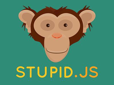 Stupid.JS logo monkey ape chimp