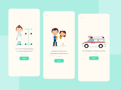 Medicare Onboarding Screen services vector illusration ux ui uiux application ui app design mobile app creative design clean ui uxdesign uidesign minimal doctors health medical app medical