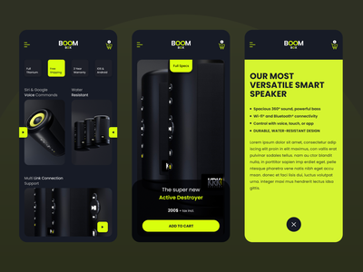 Bluetooth Speaker UI - Product Design mobile app ecommerce buy adobe xd android ios uxtrends uitrends uiux product design product speaker bluetooth ux clean ui creative design ui uxdesign uidesign minimal