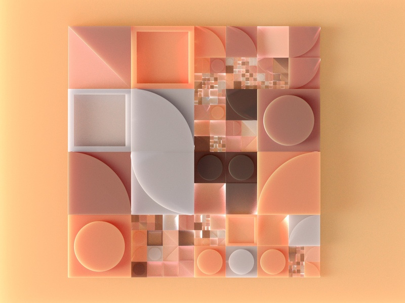Generative Composition 001 design illustration shystudio houdini cgi 3d art 3d